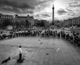 Lord Nelson and the Street Performer:  Trafalgar Square  ©