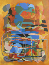 Jordan Acker Anderson Paintings Mixed media on canvas