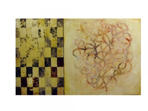 Joseph Haske GOLDEN RECTANGLES ACRYLIC/CANVAS/WOOD