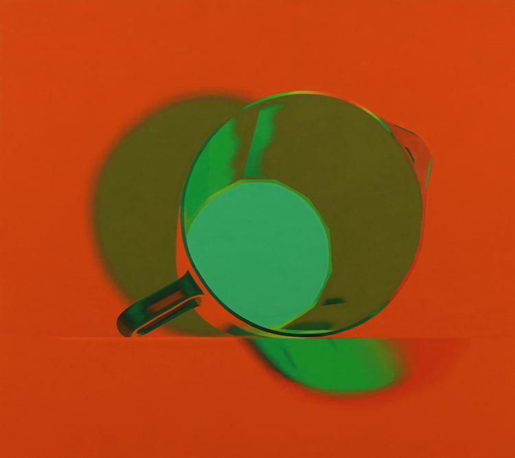 Half Colors, 2009  Pitcher (dodecagon), 2008. Oil on panel, 15 x 17 inches.
