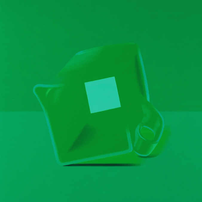 Half Colors, 2008-2009  Pitcher (square), 2008. 16 x 16 inches.