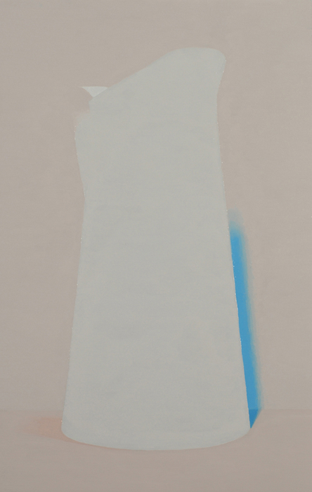 Half Colors, 2009  Pitcher (white), 2008. oil on panel, 11 x 7 inches.