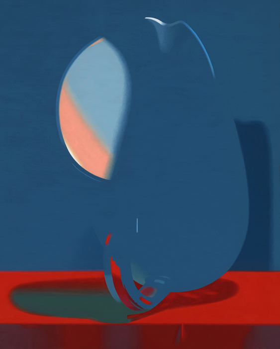Half Colors, 2009  Pitcher (Blue), 2008. 30 x 24 inches.