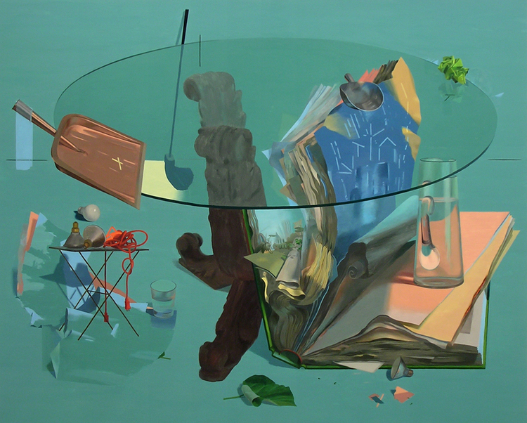 Inquirer, 2005-2007 Solipsistic Sunday, 2006. Oil on panel, 42 x 52 inches.
