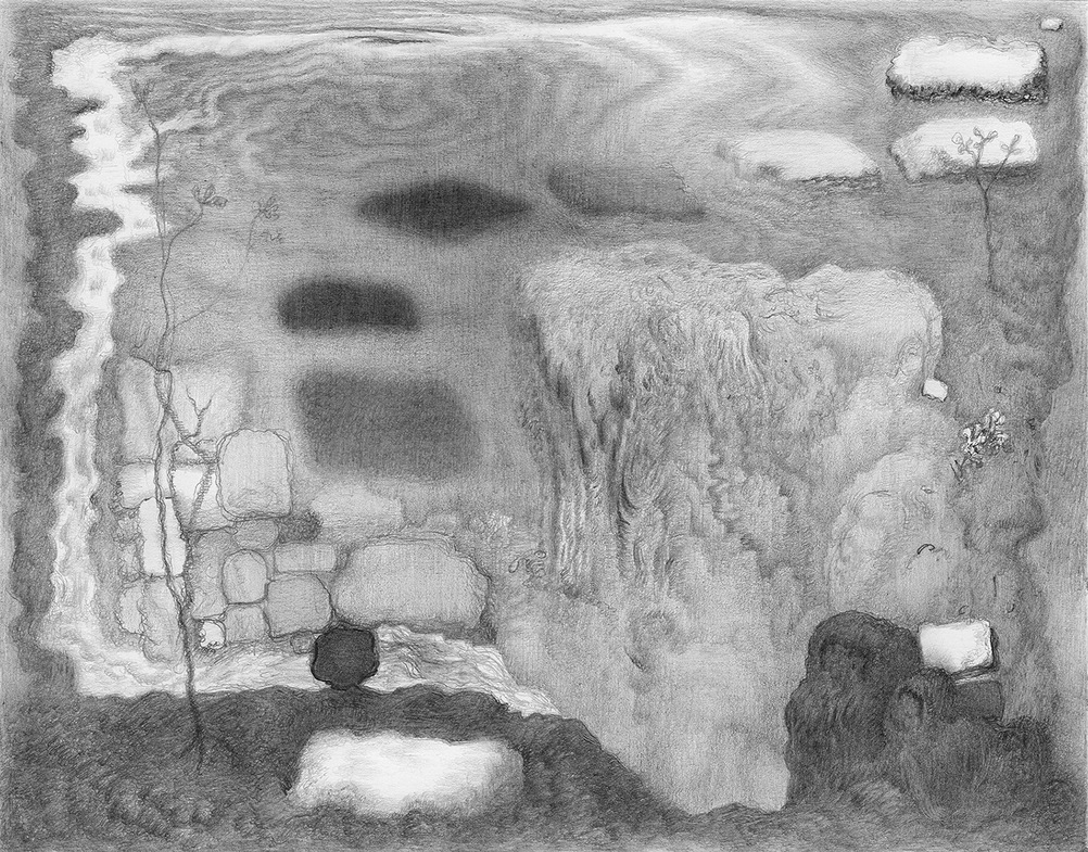 Paper Garden, 2017 Iffy Way, 2017, graphite on paper, 5.5 x 7 inches