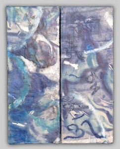 JOY J. ROTBLATT Additional Encaustics Encaustic Monoprint with encaustic on wood block