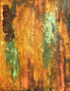 JOY J. ROTBLATT Archives M/M on Canvas with rusted metal