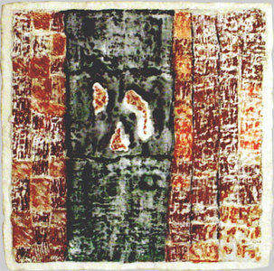 JOY J. ROTBLATT Archived Encaustic Paintings Woven Paper with Encaustic on Wood Panel
