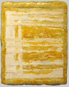 JOY J. ROTBLATT Archived Encaustic Paintings Woven Rice Paper with Encaustic on Wood