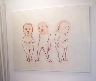 "J o y c e  K u b a t 50"" Little People b.j. spoke gallery, Huntington, NY, 2014"