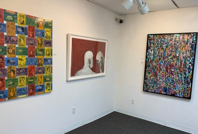 "J o y c e  K u b a t Installations b.j.spoke gallery, ""Artists' Choice,"" Huntington, NY, 2019"