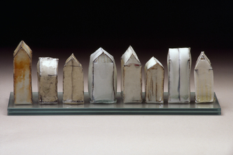 Judith Pointer Jia Houses glazed porcelain, ^10 oxidation, glass