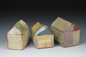 Judith Pointer Jia Houses glazed stoneware, ^6 oxidaton