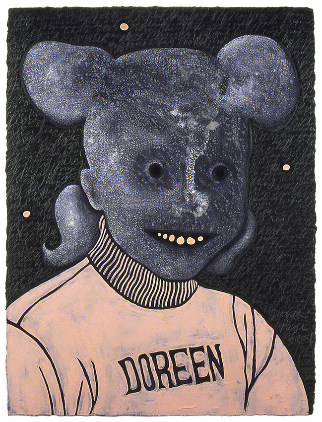 JUDITH PAGE The Mouseketeers in Iraq Acrylic, gesso, Tar Gel, graphite on Arches.
