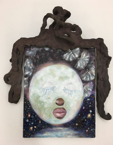 Paintings Madonna in the Moon