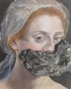 Judy Mannarino  Oil on Canvas with Porcelain<br/>