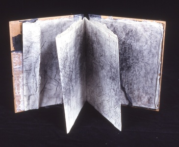 Judith Uehling Books Encaustic, Printed Paper +Ink on Pre-made Paper Form