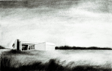 House Paintings + Drawings (1998 - 2002) Charcoal on paper