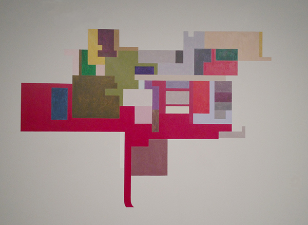 Floor Plans (2011 - Present) Acrylic on Wall (in situ) @ The Galleries at CSU, Cleveland, Ohio