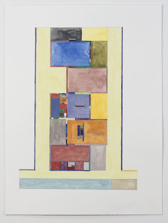 Floor Plans (2011 - Present) Watercolor on Paper