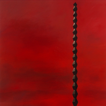 Sculpture Paintings + Drawings (2004) Brancusi Landscape (Endless Column, Red)
