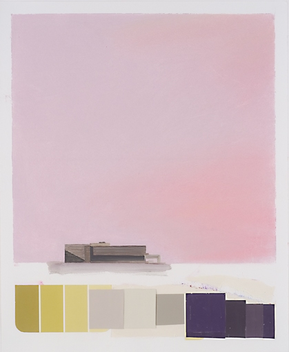 Museum Paintings + Drawings (2005) Breuer Landscape (Cleveland Museum of Art Color Study, Mauve)
