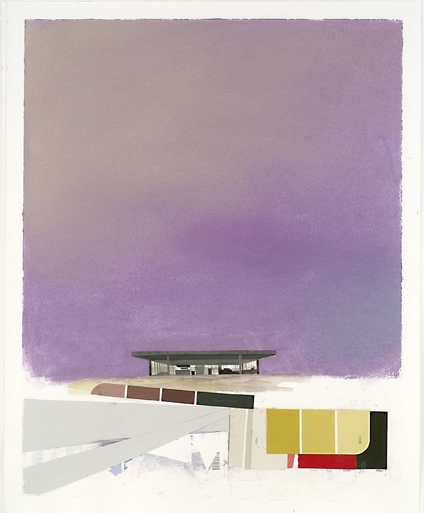 Museum Paintings + Drawings (2005) Mies Landscape (Neue Gallery Color Study, Violet)