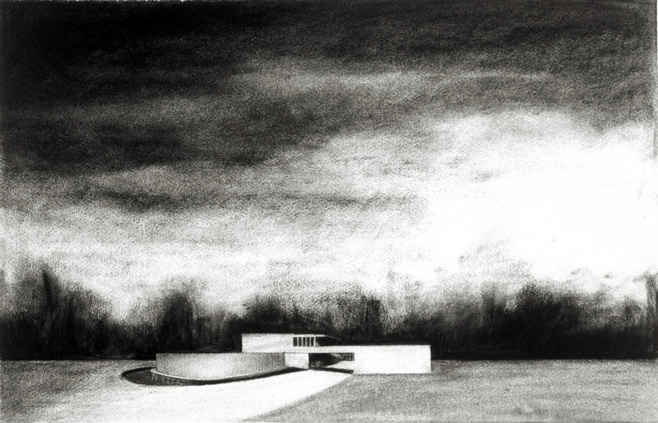 House Paintings + Drawings (1998 - 2002) Neutra Landscape (Von Sternberg House)