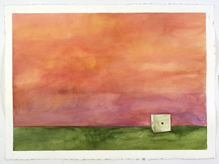 Sculpture Paintings + Drawings (2004) Winsor Landscape (Drilled Piece, Color Study, Red)