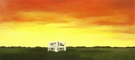 House Paintings + Drawings (1998 - 2002) Eisenman Landscape (Miller House)