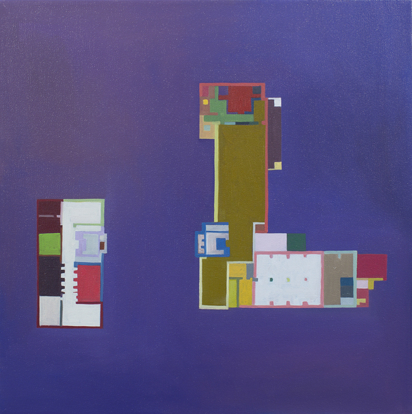 Floor Plans (2011 - Present) Gropius Floorplan:  Bauhaus, Purple, Color Determined by Chance