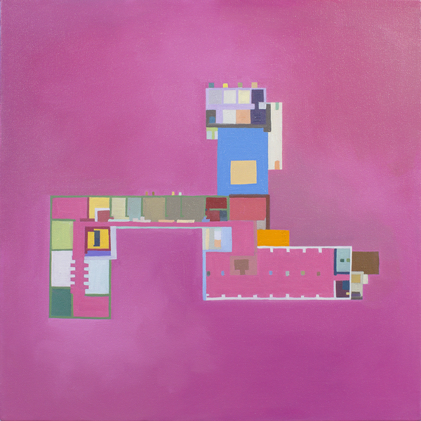 Floor Plans (2011 - Present) Gropius Floorplan:  Bauhaus, Pink, Color Determined by Chance