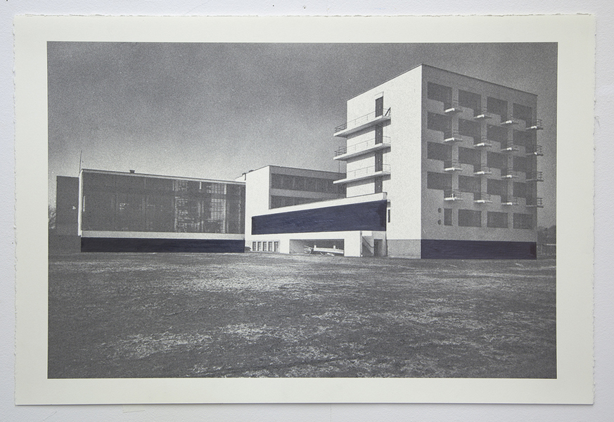 Drawings Gropius Series: Bauhaus, View #2