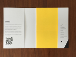 Julie Weber Book cover jacket interior with statement (left) and colophon (right)
