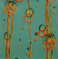 Julie Wolf Waltz Paintings 3 acrylic on canvas