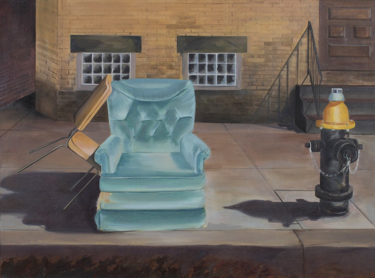 Julie Weaver Couches + Tubs Oil on Canvas