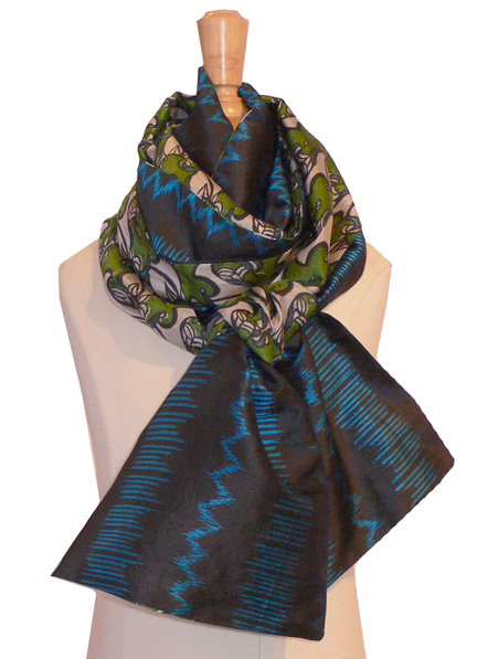 past collections-scarves  Blue Darling