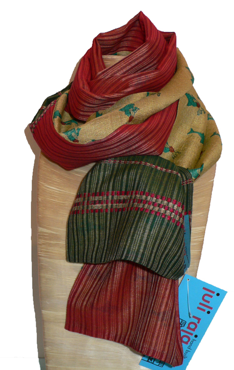 past collections-scarves  holiday candy
