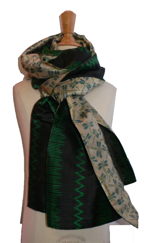 past collections-scarves  green phantom