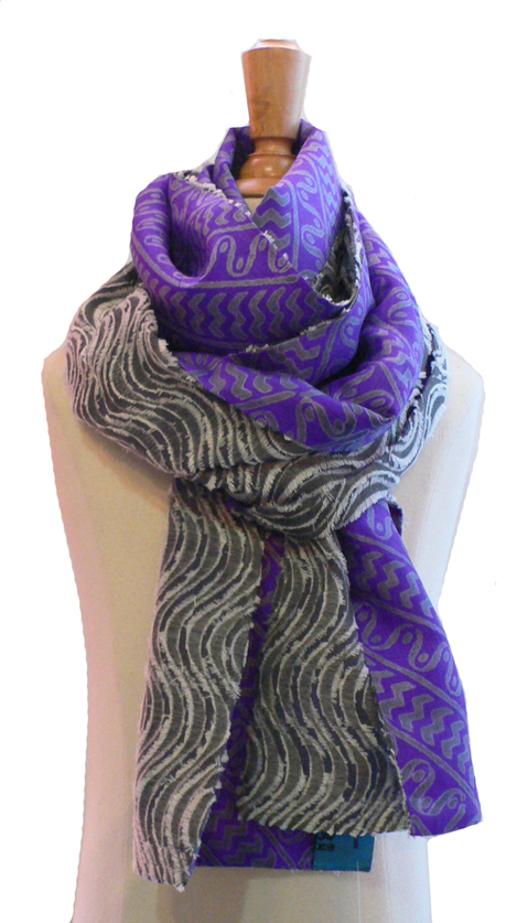 past collections-scarves  purple rain