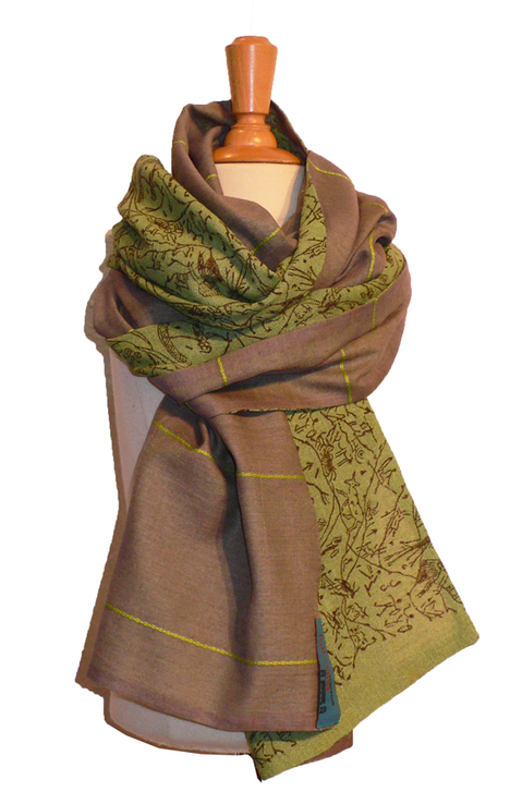 past collections-scarves  olive loyal