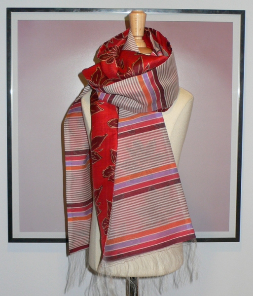past collections-scarves  red hot rumor