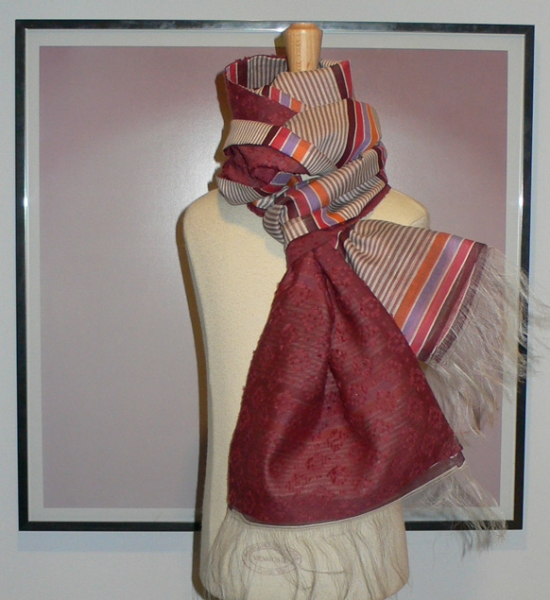 past collections-scarves  turbo merlot