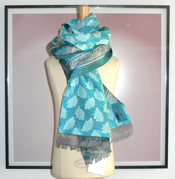 past collections-scarves  blue lagoon