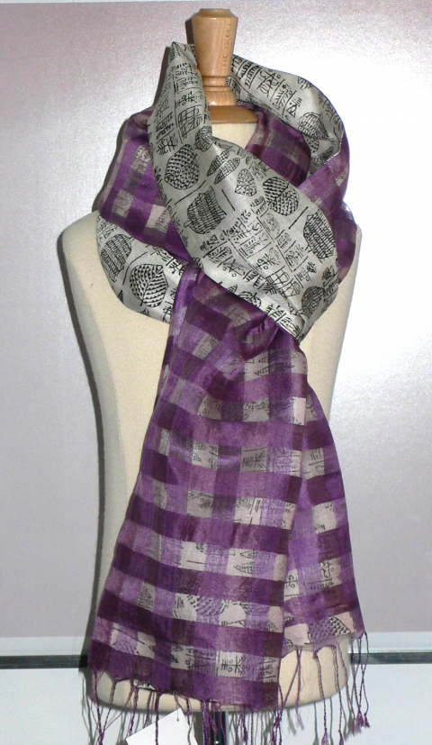 past collections-scarves  flora linny