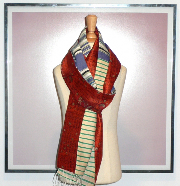 past collections-scarves  rusty nail