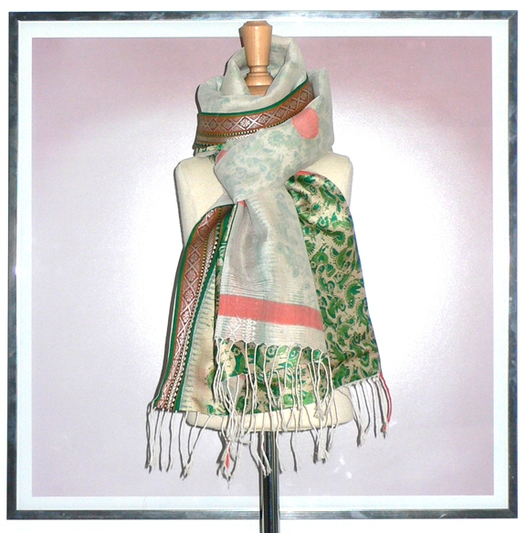past collections-scarves  polka birdie