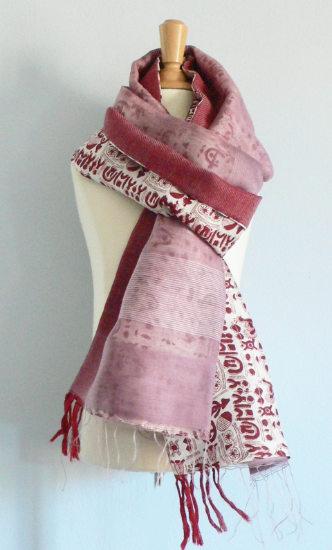 past collections-scarves  plum pudding