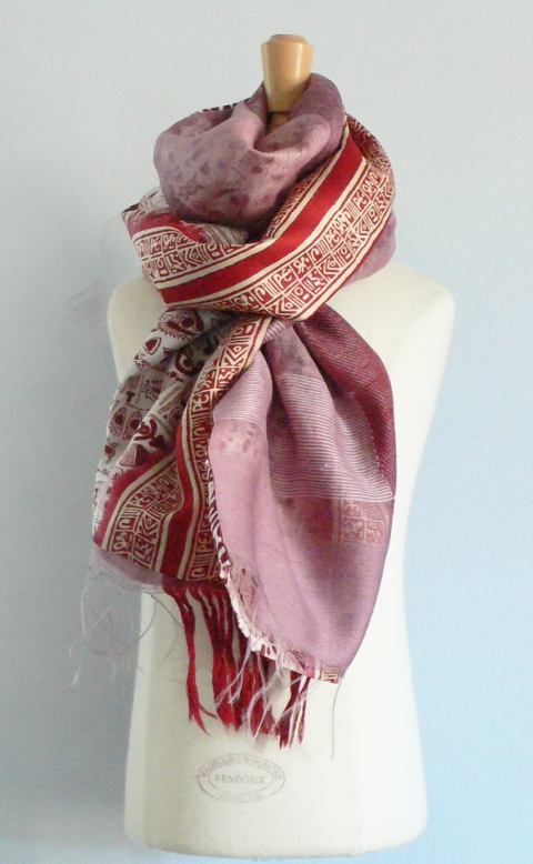 past collections-scarves  regal rose