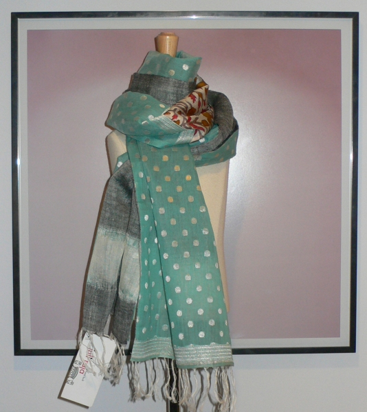 past collections-scarves  sparkle spots